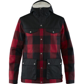 Fjällräven Greenland Chaqueta Re-Wool Hombre, red-black